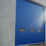 průmyslová vrata modrá